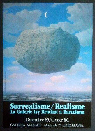 Plakat Magritte - LA GALERIE ISY BRACHOT A BARCELONA - MAEGHT 1986