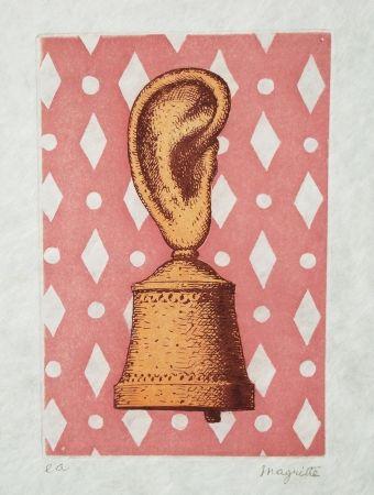 Radierung Und Aquatinta Magritte - La leçon de musique