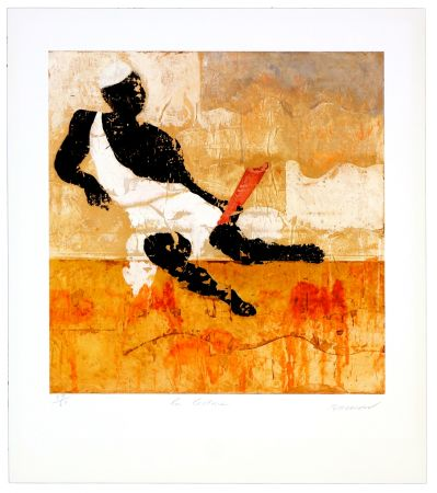 Lithographie Brisson - La lecture