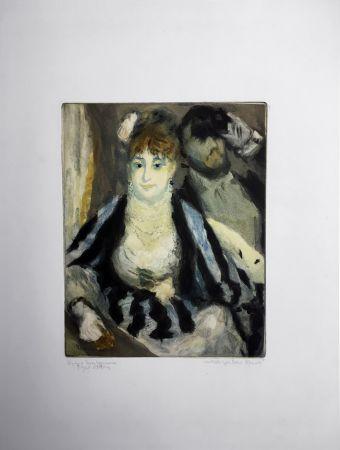 Aquatinta Renoir - LA LOGE (d'après Pierre-Auguste Renoir, gravé par Jacques Villon)