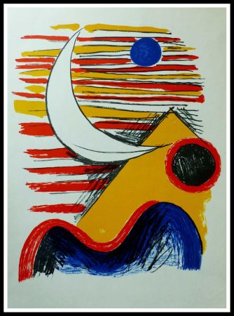 Lithographie Calder - LA LUNE ET LA MONTAGNE