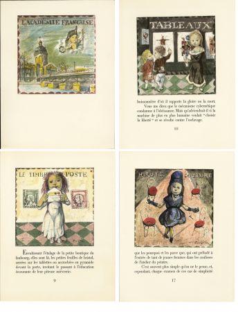 Illustriertes Buch Foujita - LA MÉSANGÈRE (Jean Cocteau) 21 lithographies. 1963. Ex. de luxe avec soie signée et suite couleurs