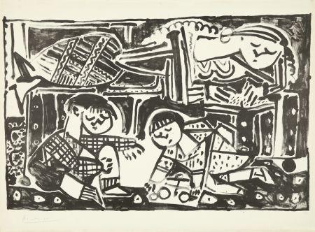 Lithographie Picasso - La mère et les enfants