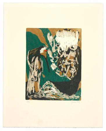 Holzschnitt Jorn - La mère Ibis