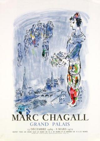 Lithographie Chagall - La Magicien de Paris