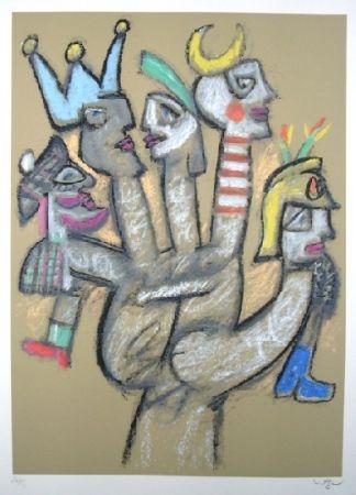 Siebdruck Matta - La main aux marionnettes