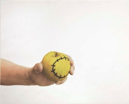 Siebdruck Pistoletto - La mela reintegrata