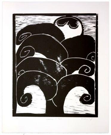 Holzschnitt Alechinsky - La naissance d'Eros