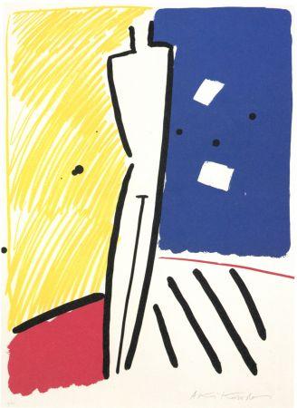 Lithographie Kuroda - La nuit de Barcelona