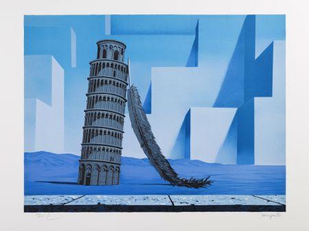 Lithographie Magritte - La Nuit de Pise (Night in Pisa)
