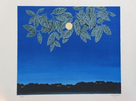 Lithographie Magritte - La Page Blanche
