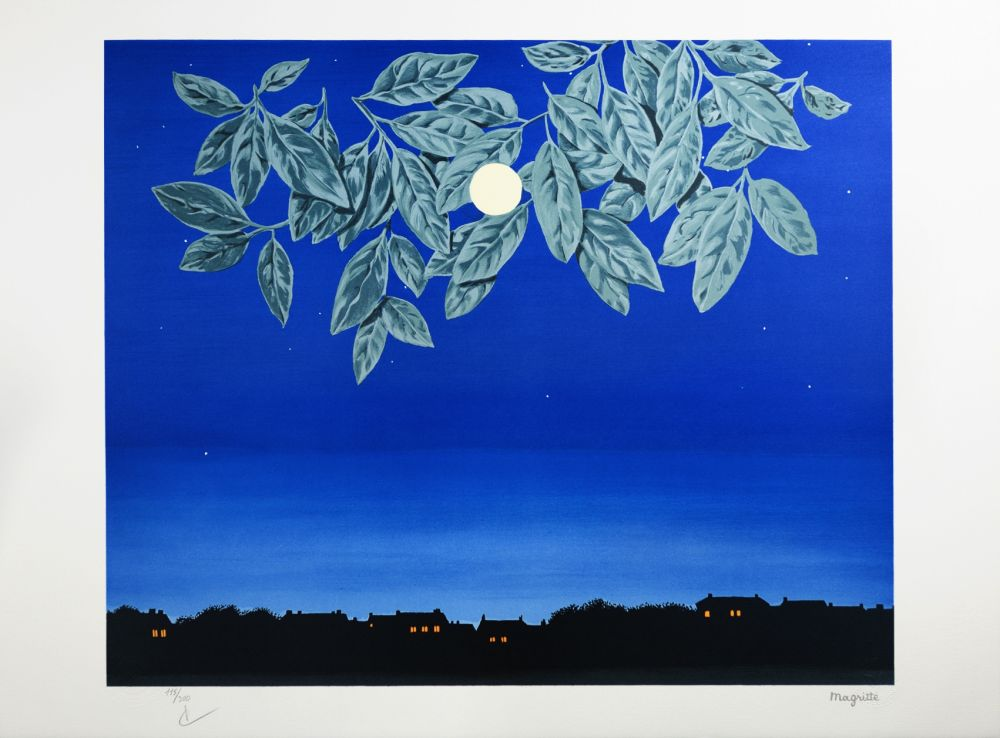 Lithographie Magritte - La Page Blanche (The White Page)