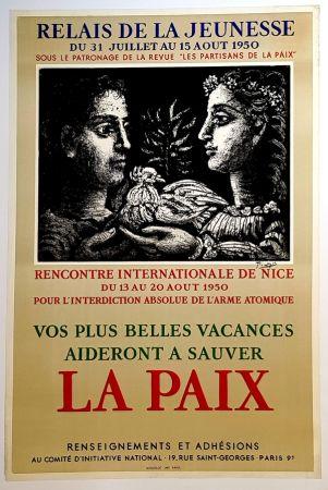 Lithographie Picasso - La Paix - Relais de la Jeunesse