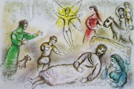 Lithographie Chagall - La Paix Retrouvee - L'odyssee Ii