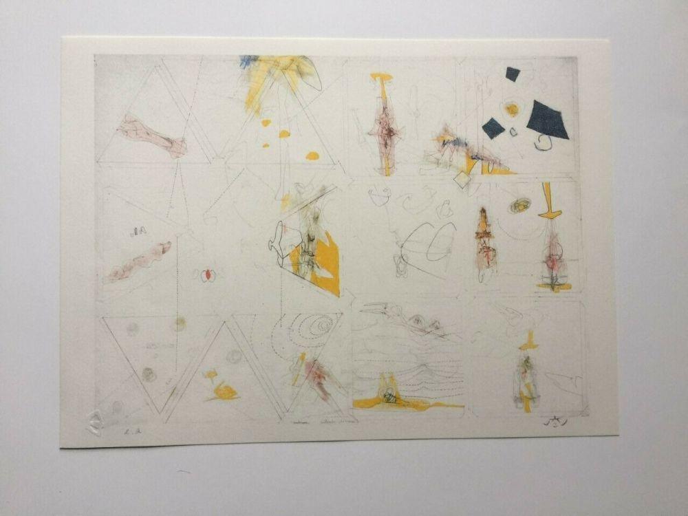 Lithographie Matta - La parole est a Peret (from Morfolgie Verbali)