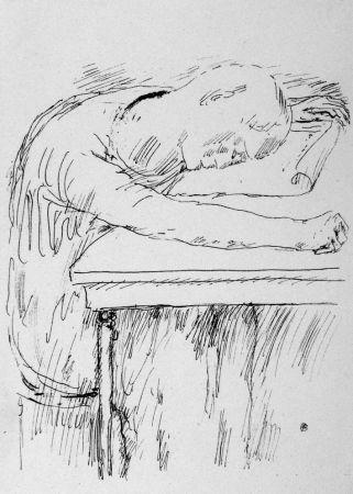 Lithographie Bonnard - La pausa