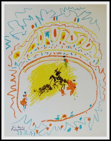 Lithographie Picasso - La Pique (Corrida)