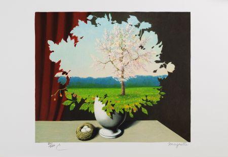 Lithographie Magritte - La Plagiat