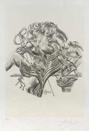Lithographie Dali - La poesía