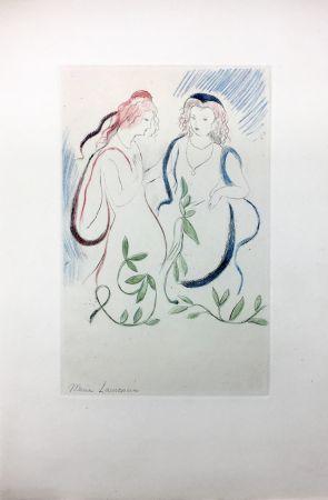 Radierung Laurencin - LA PRINCESSE DE CLÈVES (Pl. VI signée au crayon). 1947
