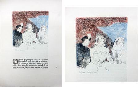 Radierung Laurencin - LA PRINCESSE DE CLÈVES (Pl. VII signée au crayon). 1947