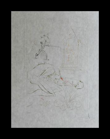 Stich Dali -  La Quete du Graal Fight Before la Dame de Malehout