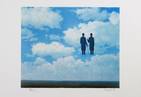 Lithographie Magritte - La Reconnaissance Infinie (The Infinite Recognition)