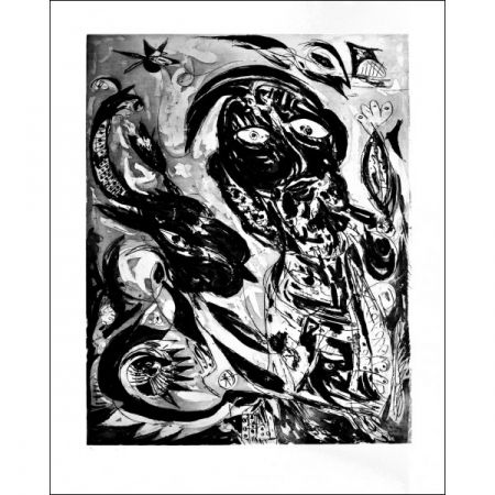 Aquatinta Pedersen - La  Reve de la licorne