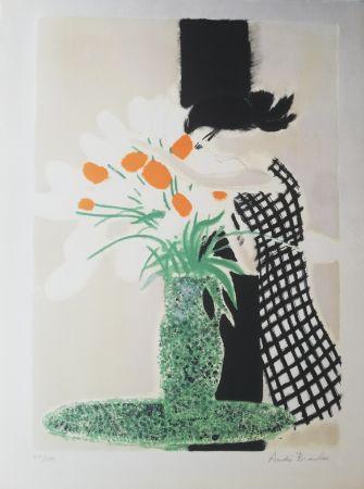Lithographie Brasilier -  La robe à carreaux