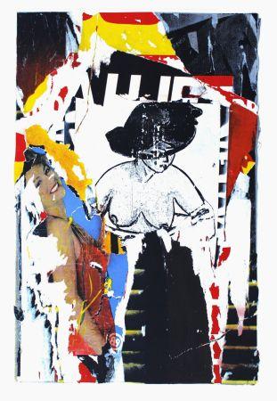 Lithographie Villeglé - La Rue De Gravilliers