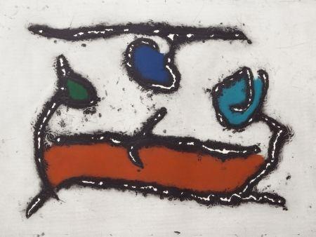 Aquatinta Jacobsen - La Seine - Le Barque