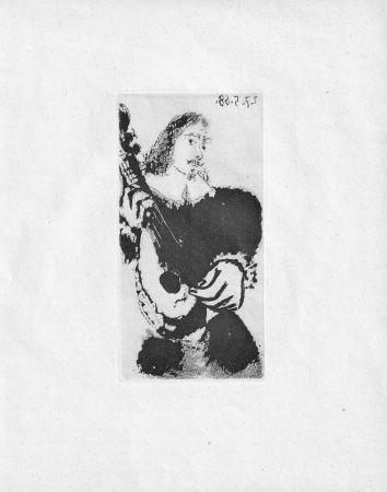 Aquatinta Picasso - La Serenade