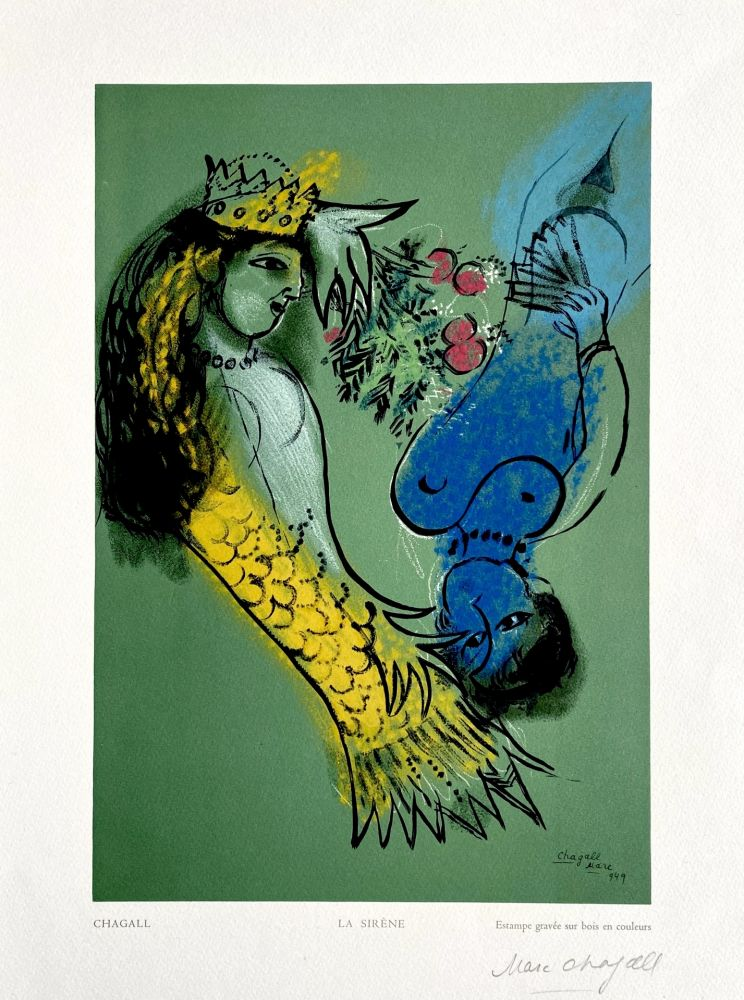 Holzschnitt Chagall - La Sirene