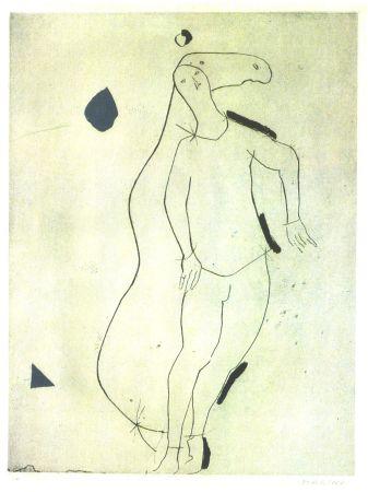 Radierung Und Aquatinta Marini - La Sorpresa I, from Personaggi, Plate III
