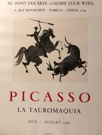 Plakat Picasso - La Tauromaquia - Au Pont Des Arts - Galerie Lucie Weil, Paris Juin - Juillet 1960