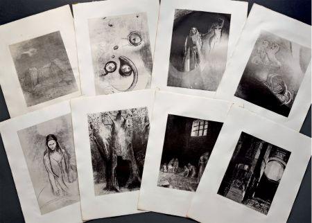 Lithographie Redon - LA TENTATION DE SAINT ANTOINE. Lithographies originales d'Odilon Redon.