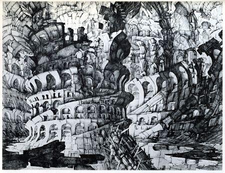 Stich Desmazières - La Tour de Babel