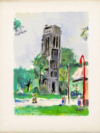 Lithographie Utrillo - LA TOUR SAINT-JACQUES. Épreuve pour Maurice Utrillo (Paris, 1955)