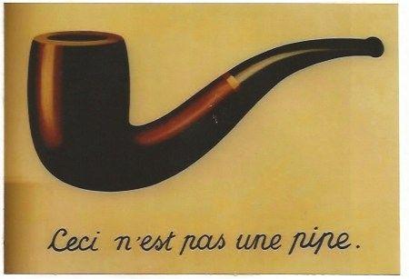 Lithographie Magritte - La trahison des images (Ceci n'est pas une pipe)