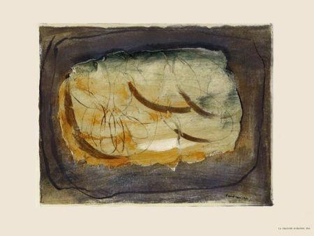 Lithographie Fautrier - La Tranche d'orange