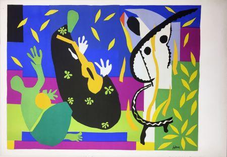 Lithographie Matisse - LA TRISTESSE DU ROI. Lithographie sur Arches 1952 (tirage original édité par Tériade)
