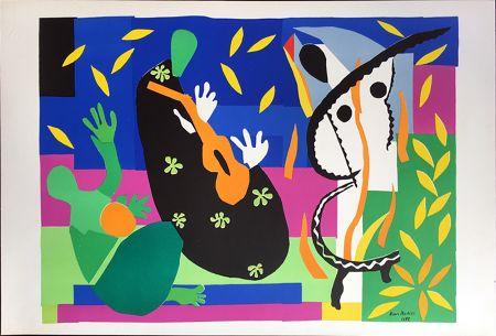 Lithographie Matisse - LA TRISTESSE DU ROI. Lithographie sur Arches 1958 (tirage original. Tériade éditeur)