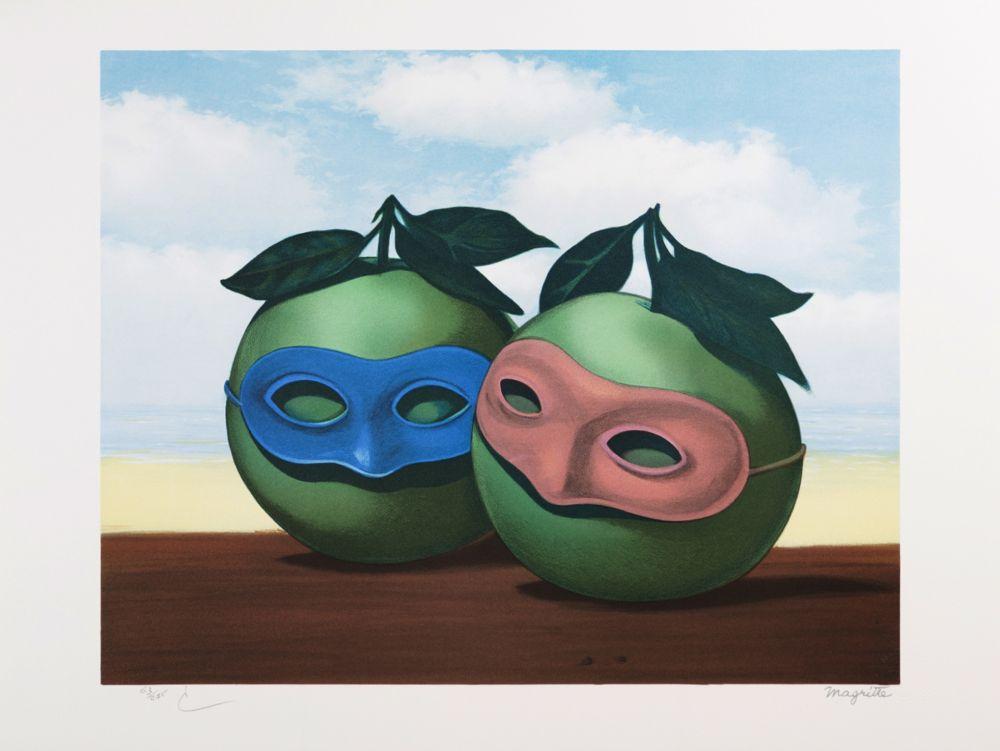 Lithographie Magritte - La Valse Hésitation (The Hesitation Waltz)