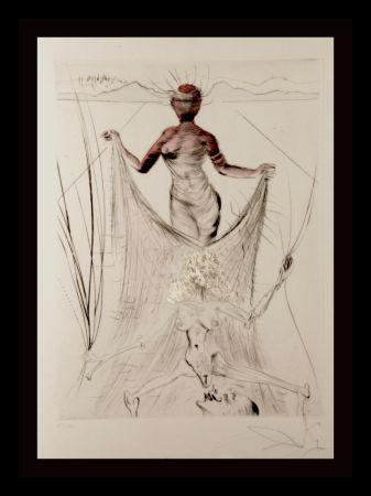 Stich Dali -  La Venus Aux Fourrures Woman Holding Veil