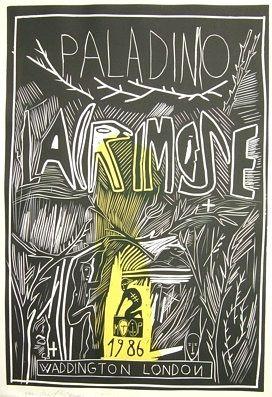 Holzschnitt Paladino - Lacrimose