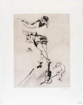Radierung Chagall - L'acrobate au violon