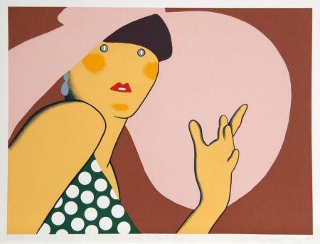 Siebdruck Kogelnik - LADY WITH HAT