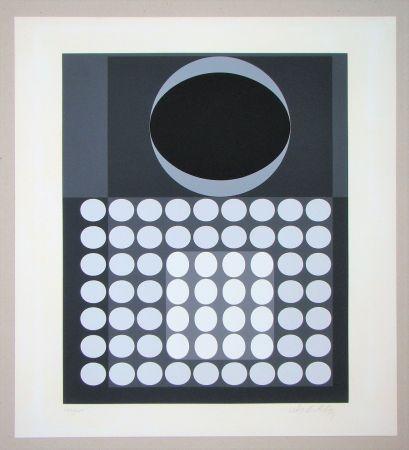 Siebdruck Vasarely - Laika