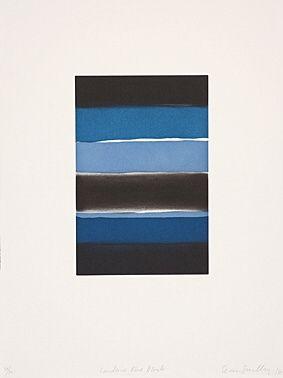 Radierung Und Aquatinta Scully - Landline Blue Black