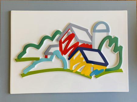 Keramik Wesselmann - Landscape II- 3D Objekt